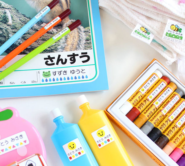 お名前シールで入園・入学準備を簡単に!種類や選び方、人気商品紹介!