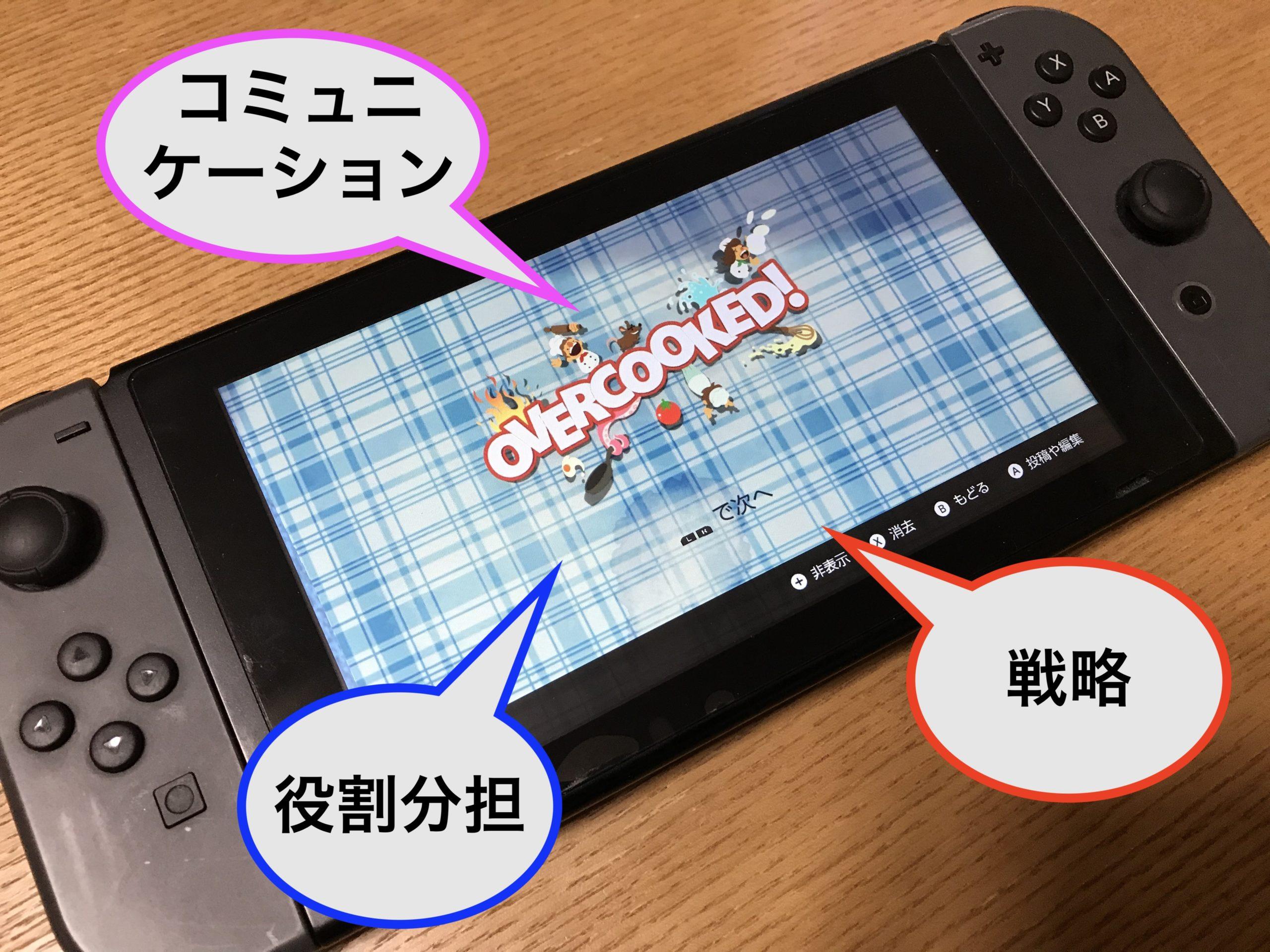 switch「オーバークック」は子供のコミュニケーション力UPに役立つ!